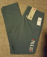 Levis Chino Pants Mens Size 29x30 Nwt Regular Fit Evening Blue Tapered leg