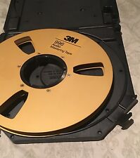 "3M 996 Audio Mastering Tape Gold Take Up Reel 1/2""x10.5""In Original Plastic Case"