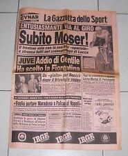La Gazzetta dello Sport GIRO D'ITALIA 1984 Subito Moser Lucca 18 maggio Ciclismo