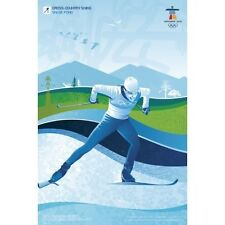 "2010 Vancouver Olympic Cross Country Skiing Poster Mint Condition Size: 18"" x 27"