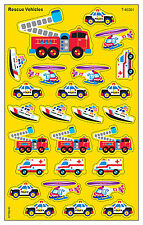 208 Rescue / Emergency Vehicles School Teacher Reward Stickers