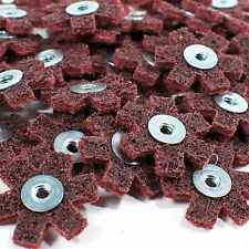"50pc 1-1/2"" Surface Conditioning Star Abrasive Disc -Maroon Medium Grade"