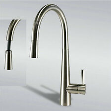 "16"" Pull Out Swivel Spout Kitchen Sink Faucet Tap Mixer Brushed Nickel Finish"