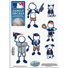 Detroit Tigers Family Decals 6 Pack (NEW) Auto Car Stickers Emblems MLB