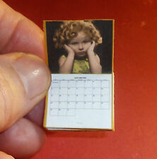 SHIRLEY TEMPLE CALENDAR 1933 Dollhouse Miniature Book 1:12 Scale