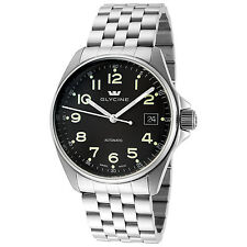 Glycine Men's 3916.19AT-MB Combat 6 Automatic 36mm Black Dial Stainless Steel