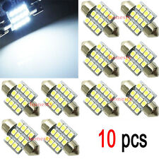10X White 31mm 12 LED SMD Festoon Dome Car Bulb 3021 3022 DE3175 Light Lamp Good