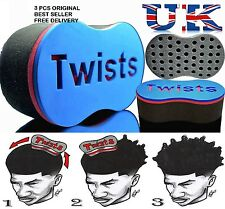 3 X  Barber Twists Original Sponge Foam Hair Brush For Dread Loc Afro Coil Curl