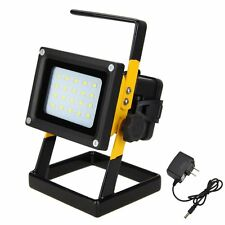 Portable Rechargeable 10W 20 LED Outdoor Camping Flood Light Spot Work Lamp Car