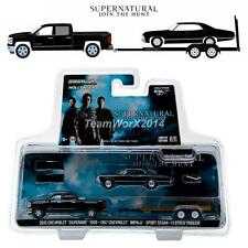 GREENLIGHT 31020C  2015 Chevy Silverado & 1967 Chevrolet Impala 1:64 NEW!!