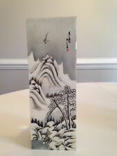RARE 20TH CENTURY DOUBLE SIDED CHINESE FAMILLE ROSE PORCELAIN PLAQUE