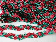 Christmas Venise floral lace trim - price for 1 yard