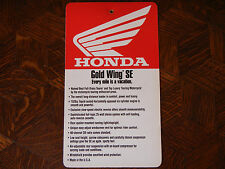 97 HONDA GOLDWING SE NOS OEM DEALER'S SALES LITERATURE HANGING TAG