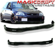 96-98 Honda Civic Coupe Hatchback Hatch Spoon Chin Spoiler Add-on Lip Urethane