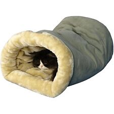 Heated Pet Bed Dog Cat Winter Warm Soft Cave Shelter Rescue Plush Nest Sleeping