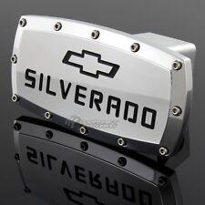 """CHEVROLET SILVERADO LOGO Hitch Cover Plug Cap 2"""" Trailer Receiver CHEVY"""