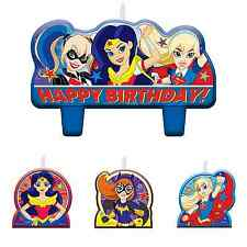 DC Super Hero Girls Birthday Candles, Cake Toppers Party Supplies Decoration ~4