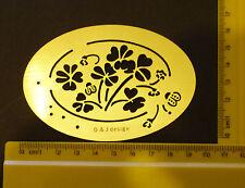 Brass/stencil/Oval/Flower/Frame/Ladybird/Spring/Summer/Emboss