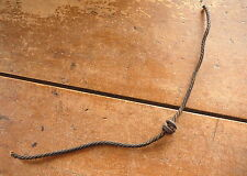 HAWORTH'S CAST IRON BUTTON on ROPE CHECK ROW PLANTER WIRE - ANTIQUE BARBED WIRE