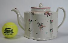 "New Hall or Factory ""Y"" silver  shape hard paste porcelain teapot. Pattern 366"