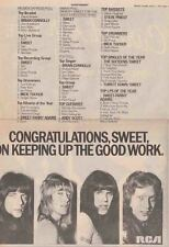 THE SWEET : Congratulations 1975 -Poster Size NEWSPAPER ADVERT- 40cm X 30cm
