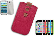 TASCHE COVER UNIVERSELLE SAMSUNG S2 S3 S4 IPHONE 3 4 5 HAUT KUNSTSTOFF ROSA