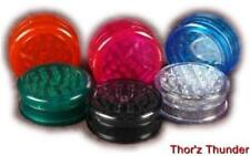 "New GRINDER ----- 2 Piece --- Acrylic HERB Spice Tobacco LARGE 2.25"" Clear Heavy"