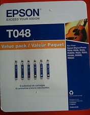 2017 New 6 Genuine Epson 48 Ink T048 T0481 T0482 T0483 T0484 T0485 T0486_R200