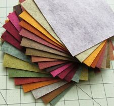 "21 - 12""X12""  Fall Colors Collection - Merino Wool blend Felt Sheets"