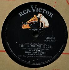 The Singing Dogs Pat-A-Cake Three Blind Mice Jingle Bells 78 Christmas Kids Fun