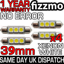 4x 3 SMD LED 39mm 239 272 CANBUS NO ERROR XENON WHITE NUMBER PLATE LIGHT BULB UK