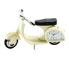 silver plated Miniature vespa style scooter clock FREE ENGRAVING
