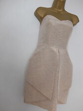 JANE NORMAN ● size 8 ● beige gold strapless cocktail dress womens ladies