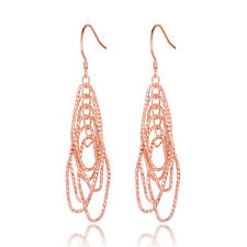 Rose Gold Silver Color Dangle Earrings Long Earrings For Women Fashion Jewelry