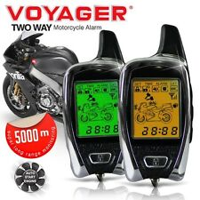 VOYAGER 2 Way LCD Remote Pager Remote Engine Start Motorcycle Alarm Scooter Bike
