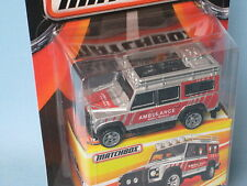 Matchbox Land Rover 110 Defender Ambulance Silver Body Toy Model Car 70mm