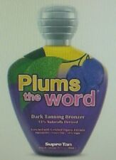 Supre Plums The Word Rich Bronzer 100% Vegan Organic Plum Oil Tanning Lotion