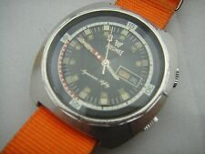 PRECIMAX AQUAMAX SAFETY VINTAGE DIVER WATCH AUTOMATIC 2 CROWNS SUPER COMPRESSOR