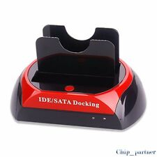 "Dual Port All in 1 HDD Dock USB to IDE/SATA Converter 2.5""/3.5""HDD Dock Station"