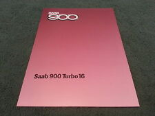 MINT 1985 Model SAAB 900 TURBO 16 VALVE - NON S - UK 10 PAGE BROCHURE