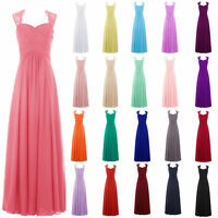 New Long Chiffon Bridesmaid Formal Ball Gown Party Evening Prom Dress Size 6-30
