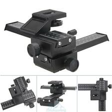 Professional Version 4 Way Macro Shot Focusing Rail Metal Slider For DSLR Camera