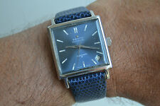 "rare men's Zenith Respirator ""JFK"" automatic vintage watch, wonderful blue dial"