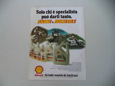 advertising Pubblicità 1981 SHELL e MOTO KTM/YAMAHA