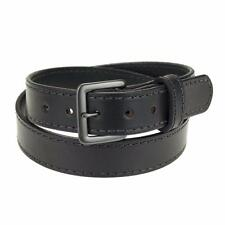 "1 3/4"" Heavy Duty Leather Work_Gun Belt Stitched_Gun Metal Buckle_Amish Handmade"