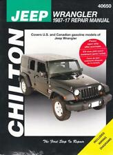 1987 2017 jeep wrangler chiltons repair service workshop shop manual rh ebay com Jeep Repairs Do It Yourself Jeep Repair Manual Online
