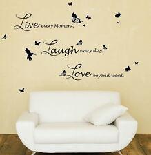 Decorazione Casa Adesivo Parete Arte Di Vivere Ridere Amore Preventivo grafia