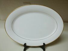 Princess House Heritage China Exclusive Oval Turkey Platter 16 inch  Gold Trim