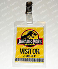 Jurassic Park ID Badge/Card Dinosaur Visitor Pass Cosplay Costume Prop Christmas