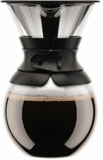 Bodum Pour Over Coffee Maker with Permanent Filter, 34 oz, Black